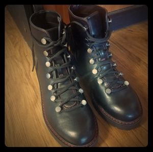 Brand New Faux Leather Lace-up Combat Boots